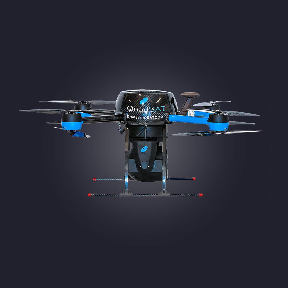 Quadsat drone antenna measurement