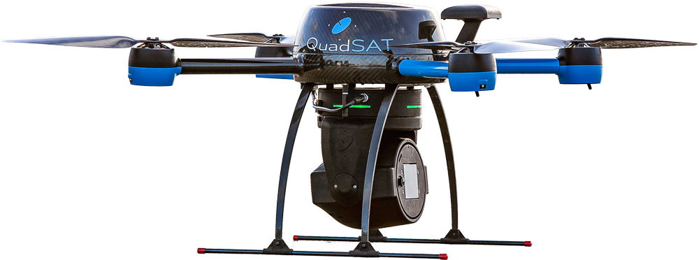 Quadsat drone with payload