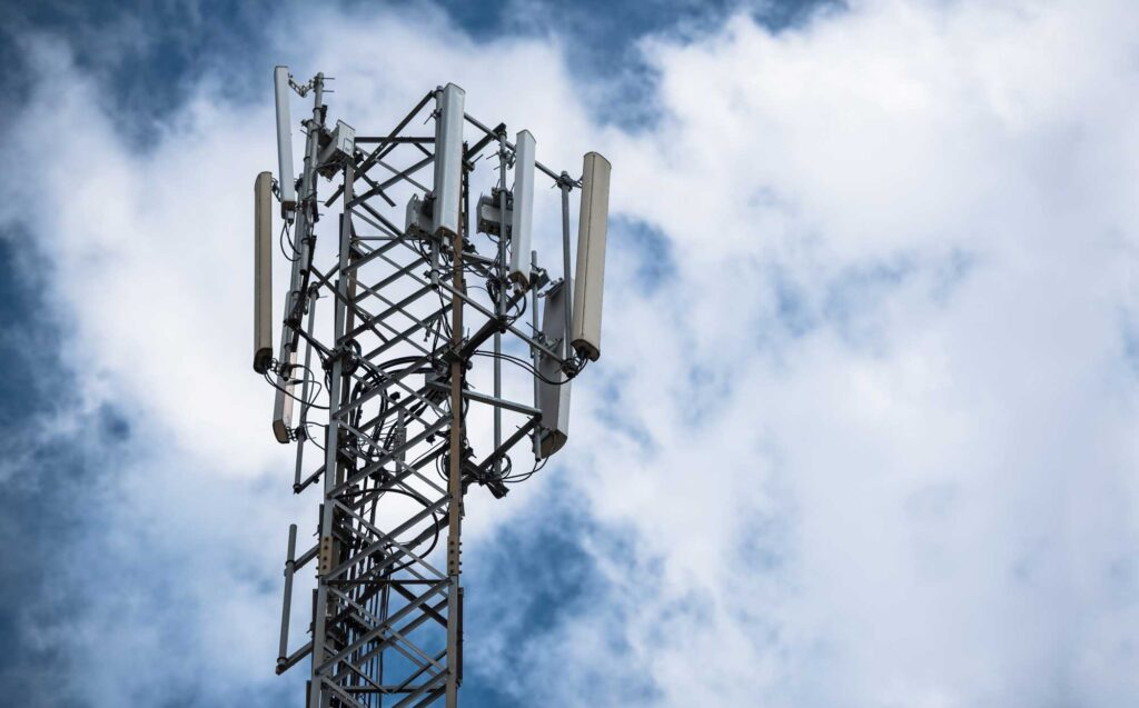 wireless tower for drone antenna measurement